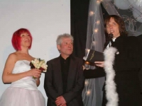 Showbiz Second Wedding of Christine Cloughley and Paul Sneddon (ALK officiating) at Stand Comedy Club