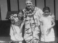 Midge Kennedy(far left) with a relatively scary clown